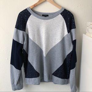 J.Crew - Color Block Sweatshirt - L